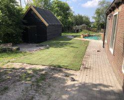 Aanleg tuin bij kinderopvang in Gorredijk